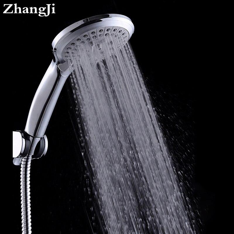 Zhangji Rotonda 5-Funtion Doccia A Pioggia Testa Soffione Doccia Handdouche Kop Chuveiro Cachoeira Chorme Ugello Soffioni per doccia