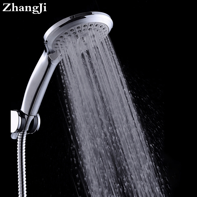 Zhangji Round 5-Funtion Rainfall Shower Head Soffione Doccia Handdouche Kop Chuveiro Cachoeira Chorme Nozzle Shower Heads