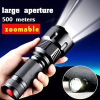 2017 New Powerful Led XM T6 Zoomable Led Flashlight Lantern Hunting Torches Lighting Superbright Flashlight For