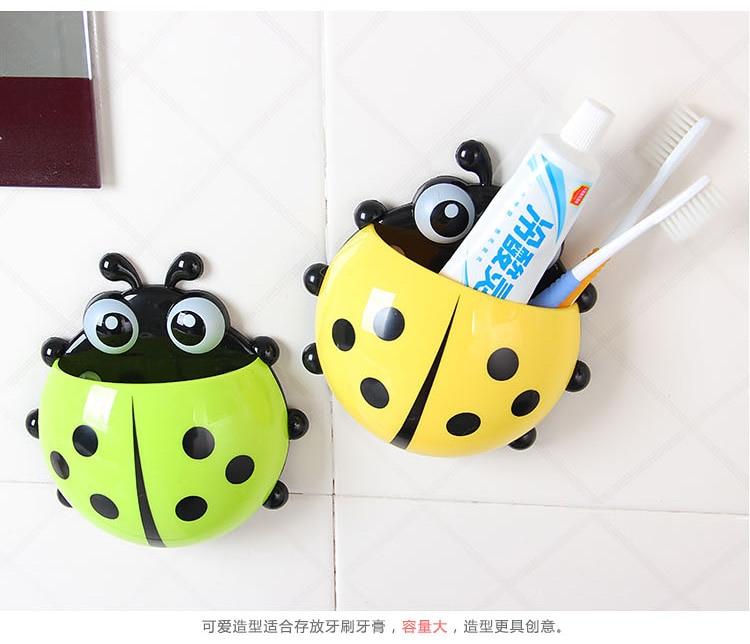 1db kedves katicabogár testkeverő szívókefe fogkefe fogkrém ruha gyermek ajándék fogkefetartó fürdőszobai kiegészítő eszköz