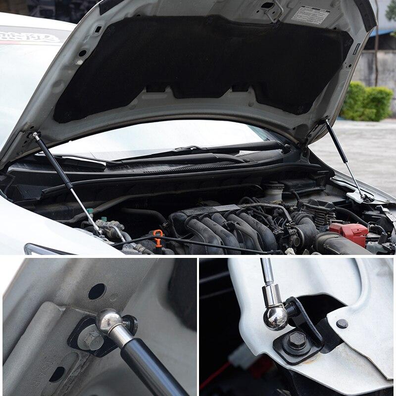For Honda Fit/Jazz 2014 2019 Hood Cover Hydraulic Rod Strut Rod Telescopic Rod Engine Hood lift Support 2pcs Car Styling