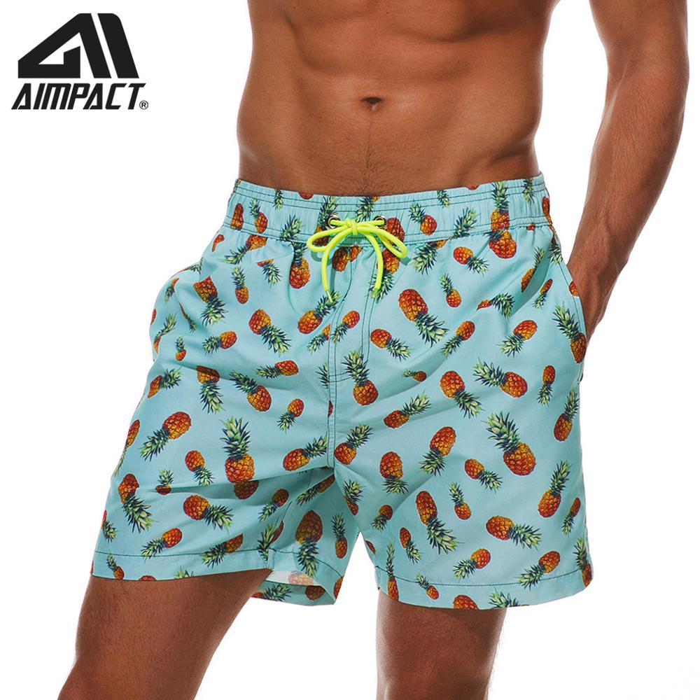 Aimpact мужские бордшорты Pinapple Быстросохнущий купальник гибридные шорты модные шорты для серфинга Гавайские сетчатые подкладочные трусы AM2204