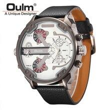 Unique Designer Men Quartz-Watch Casual Fabric Leather Strap Military Wrist Watches Big Face Male Watch relogio masculino