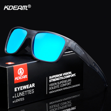 KDEAM Sport Strong-Line Mens Sunglasses Polarized Racing Life Sun Glasses Men Action-packed Mirror Sunglass Include Box