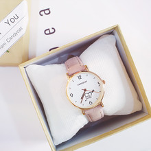 2019 new girl watch female middle school students Korean version of the simple trend retro small fresh college wind wild casual korean version of the simple art of retro wild small fresh couple college wind female students watch female girlfriends a pair