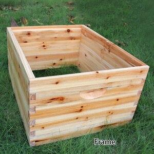 Image 4 - אוטומטי עץ כוורת בית עץ דבורים תיבת ציוד גידול דבורים כוורן כלי לכוורת דבורים אספקת 66*43*26cm באיכות גבוהה