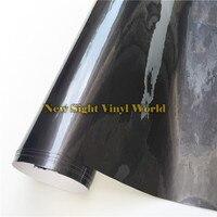 High Quality Glossy Metallic Grey Vinyl Wrap Dark Grey Gloss Metallic Vinyl Film Air Free Car Wraps
