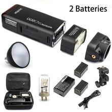 Godox AD200 2.4 г Беспроводной x Системы TTL HSS 1/8000 s Карманный Flash w/2 Батареи + стандартный Отражатели для Canon Nikon Sony Камера
