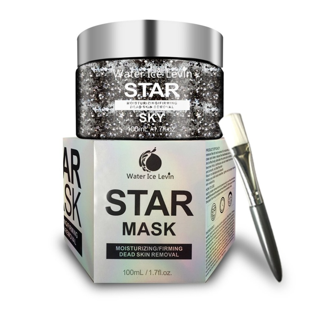 STAR MASK Glitter Gold Peel off Black Face Mask From Black Dots Blackhead Remover Korean Facial Masks Face Skin Care max klim love passion and family in
