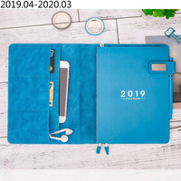 A5 Solid Color Classic Notebook Daily Weekly Yearly Planner Notebook Personal Diary Notebook Agenda 2019 Planner Organizer