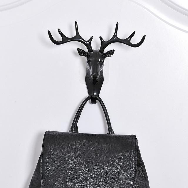 Wall Decor Hooks Antlers American Style Household Decor Hooks Multi-purpose Wall  Coat Keys Bags Clothes Hook