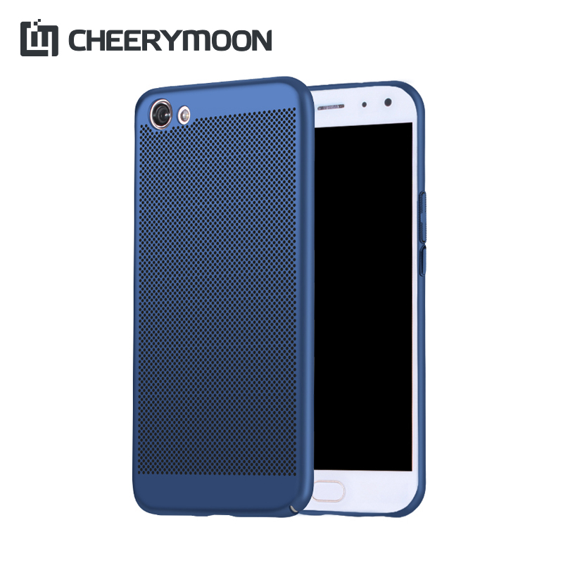CHEERYMOON Dissipate Heat Ventilated Phone <font><b>Case</b></font> For <font><b>VIVO</b></font> X9 X7 X6 Plus V5 V3 Max Y67 Y66 Y55 <font><b>Y53</b></font> Y51 Y35 Hard Back Shell+Gift image
