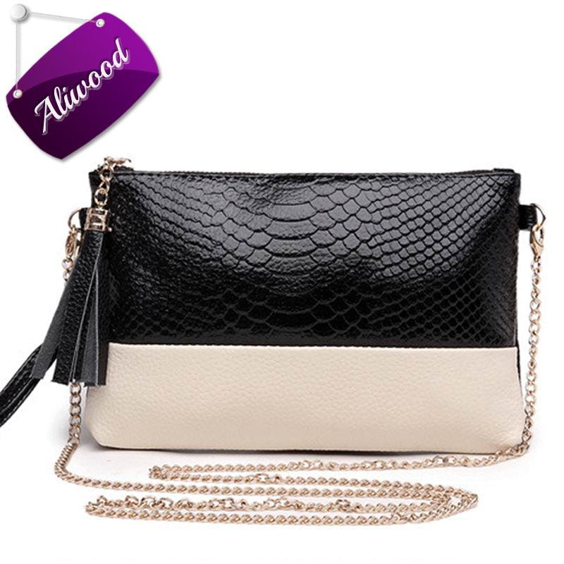2017 Mini Chain Tassel Women Bag Messenger Bags Alligator Leather Ladies Shoulder Bag Females Clutch Cross Body Bolsas Feminina women floral leather shoulder bag new 2017 girls clutch shoulder bags women satchel handbag women bolsa messenger bag