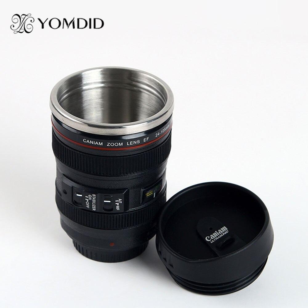 Acero inoxidable SLR Cámara EF24-105mm taza de lente de café 1:1 escala caniam taza de café regalo creativo