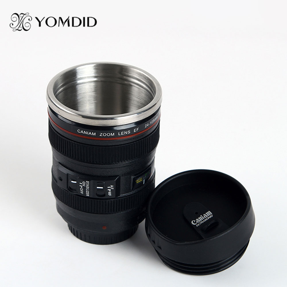 Edelstahl SLR Kamera EF24-105mm Kaffee Objektivbecher 1:1 skala caniam kaffeetasse kreative geschenk