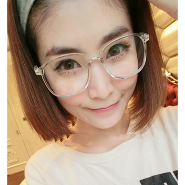 SOLO TU Trend Retro Big Frame Metal Eyeglasses Frames Colorful High ...