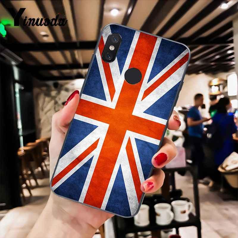 Yinuoda ธงอังกฤษ, ลอนดอน Tpu ซิลิโคนโทรศัพท์สีดำกรณีสำหรับ Xiao mi mi 6 mi x2 mi x2S Note3 8 8 lite สีแดง mi 5 note5 Note4 4X