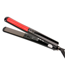 On sale Professional Hair Straightener LCD Display Titanium Ceramic plates Flat Iron Straightening Irons Fast Heating Styling Tools