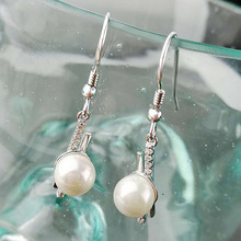 Silver-inlaid Earrings Female Korean Edition Pearl Earrings with Zircon Earrings Temperament Fashion Jewelry Wholesale silver jewelry inlaid natural blue earrings shine all match earrings fashion temperament section mixed batch