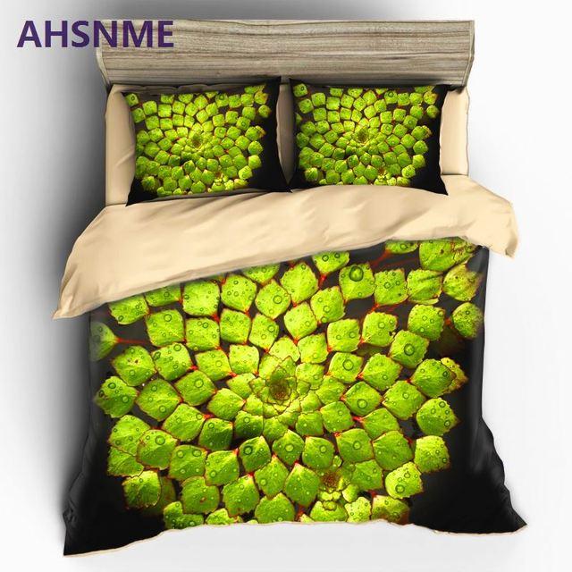 AHSNME Summer Green plants high-definition print Tropical rainforest bedding set King Quenn Full Double Twin Quilt cover set