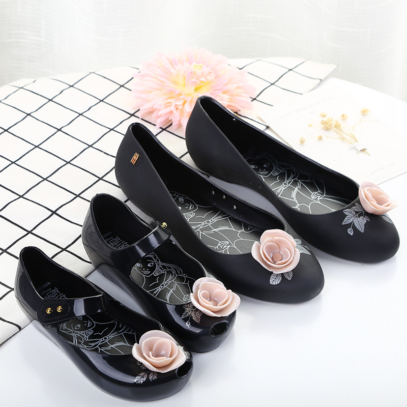 Mini Melissa Beauty Rose Woman Jelly Sandals 2019 Summer Mom Girls Shoes Sandals Melissa Women Jelly Shoes Soft 22.5-24.5cm