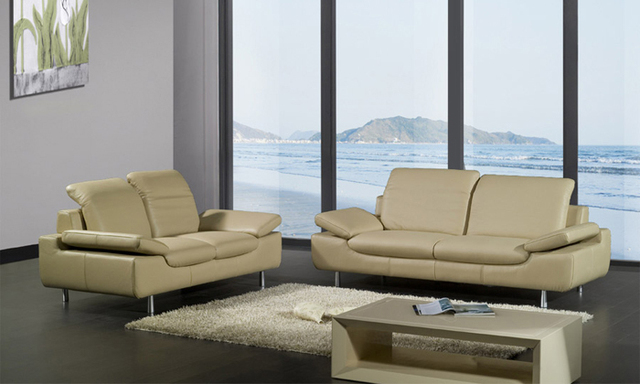 Free Shipping Clic 1 2 3 Sectional Sofa Set Top Grain Leather Solid