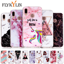 FLYKYLIN Marble Unicorn Phone Case For Huawei P20 Lite Case For Huawei P10 P9 P8 Lite 2017 Covers Coque Soft TPU Silicon Cases