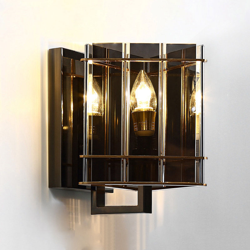 Post modern Simple Creative Personality Bedroom Bedside lamp Wall lamp Aisle Corridor Living room Model room Crystal E14 bulb wall lamp bedside lamp bedroom aisle living room modern simple wall aluminum lamp led warm personality creative corridor chinese