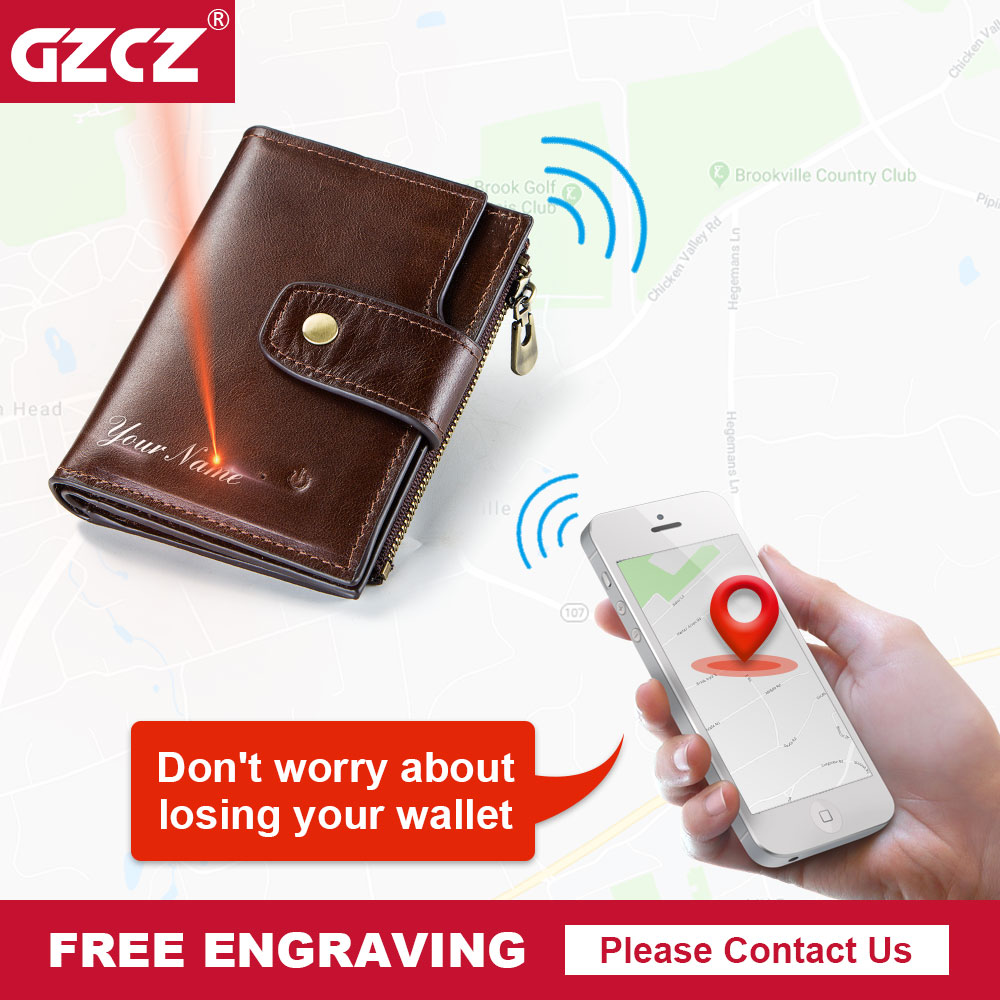 GZCZ Genuine Leather Wallet Men Coin Purse Small Male Clutch Wallets Portomonee  Hasp Mens Money Bag Card Holder Free EngravingGZCZ Genuine Leather Wallet Men Coin Purse Small Male Clutch Wallets Portomonee  Hasp Mens Money Bag Card Holder Free Engraving