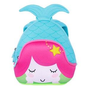 Image 2 - NOHOO sac décole pour enfants, Sac à dos étanche pour Filles la petite sirène sac à dos