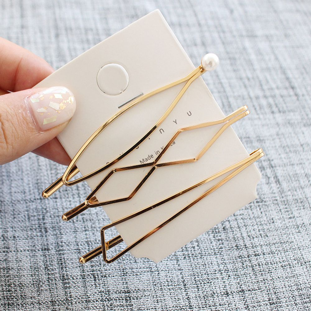 3Pcs/set Metal Hairclip Metal Hair pins Hairband Comb Bobby Hair Pin Barrette Hairpin Hair Styling Accessories For Girls Lady