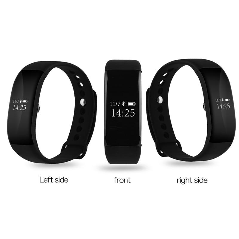 imágenes para Smart watch pista de ritmo cardíaco reloj de pulsera bluetooth inalámbrico deporte gimnasio rastreador pulsera para ios android ip68 a prueba de agua