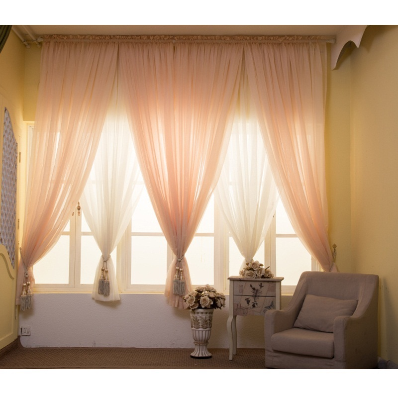 Solid Tulle Curtains For Living Room Window Curtains For Bedroom Kitchen Wedding Decor Modern