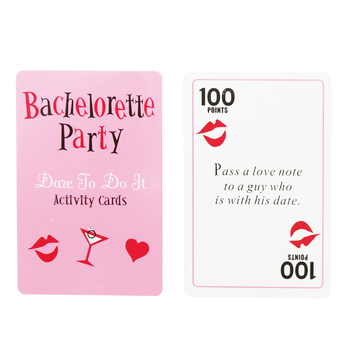 52pcs Bachelorette Party Truth or Dare Cards Activity Card Number Card Hen Night Party Bridal Groom Game Party Adult Play Card