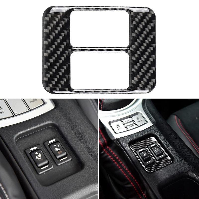 Car Stickers Auto Panel Frame Carbon Fiber Seat Heating Button Frame Cover For Subaru BRZ Toyota 86 Car