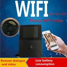 Freeship беспроводной двери глазок камеры видео телефон беспроводной дверной звонок ночного видения ик motion detection alarm для ios android