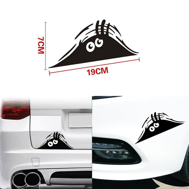 Funny peeking monster auto walls sticker graphic vinyl car decals car stickers car styling accessories diy