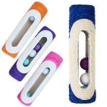 Fashion Training Funny Toys For Pets Cat Rolling Sisal Scratching Post Trapped With 3 Ball