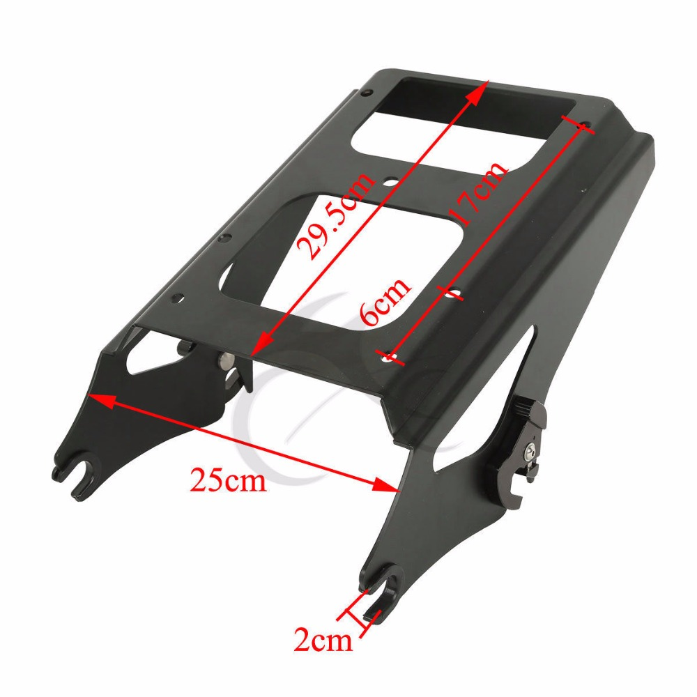 "Image 5 - Motorcycle Painted 5.5"" Razor Tour Pak Pack Trunk 2 up Mount Rack For Harley Touring Road King Road Electra Glide 2009 2013"