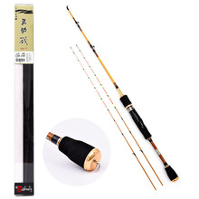 120cm Unbreakable Half Titanium Alloy Tip Fishing Rod 2 Section Carbon Fiber Raft Fishing Rod Pole Lure Fishing Tackle