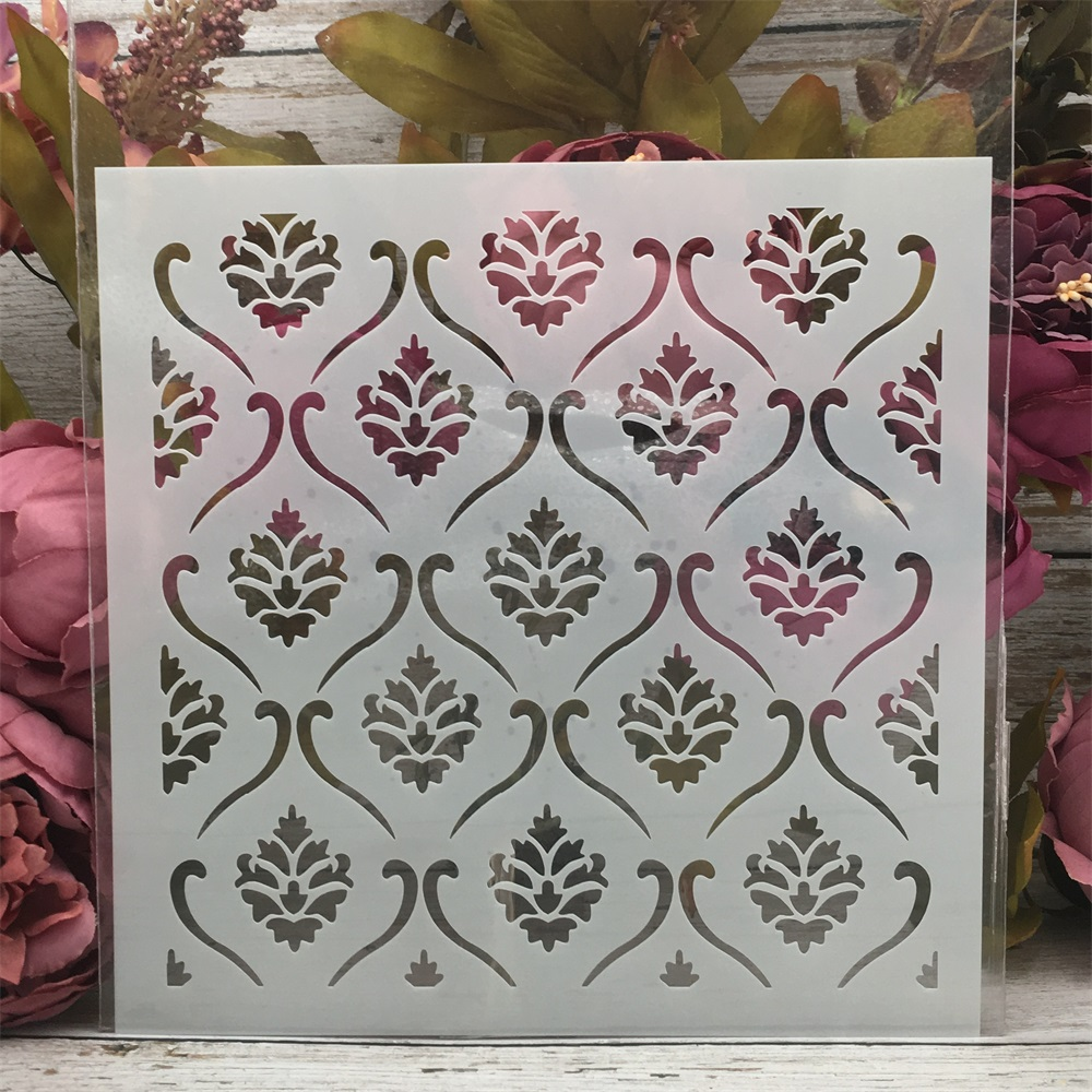 20*20cm Flower Background Texture DIY Layering Stencils Painting Scrapbook Coloring Embossing Album Decorative Card Template