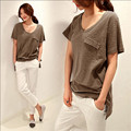 Large Size S-3Xl Women Summer T-Shirt Fashion Solid Color Short Sleeve Shirt Female Loose Casual Tshirt For Women W947