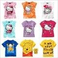 Free shipping Summer Korean children cartoon cat  T-shirt children's short sleeved T-shirt boy girl  T-shirt A079