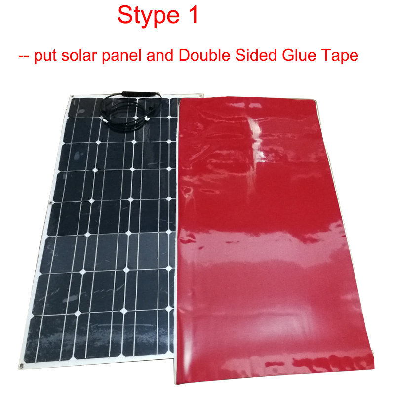1pcs flexible solar panel glue double sided adhesive glue tape  1060mm*550mm*2 5mm buyer easier to install on solar panels 100w