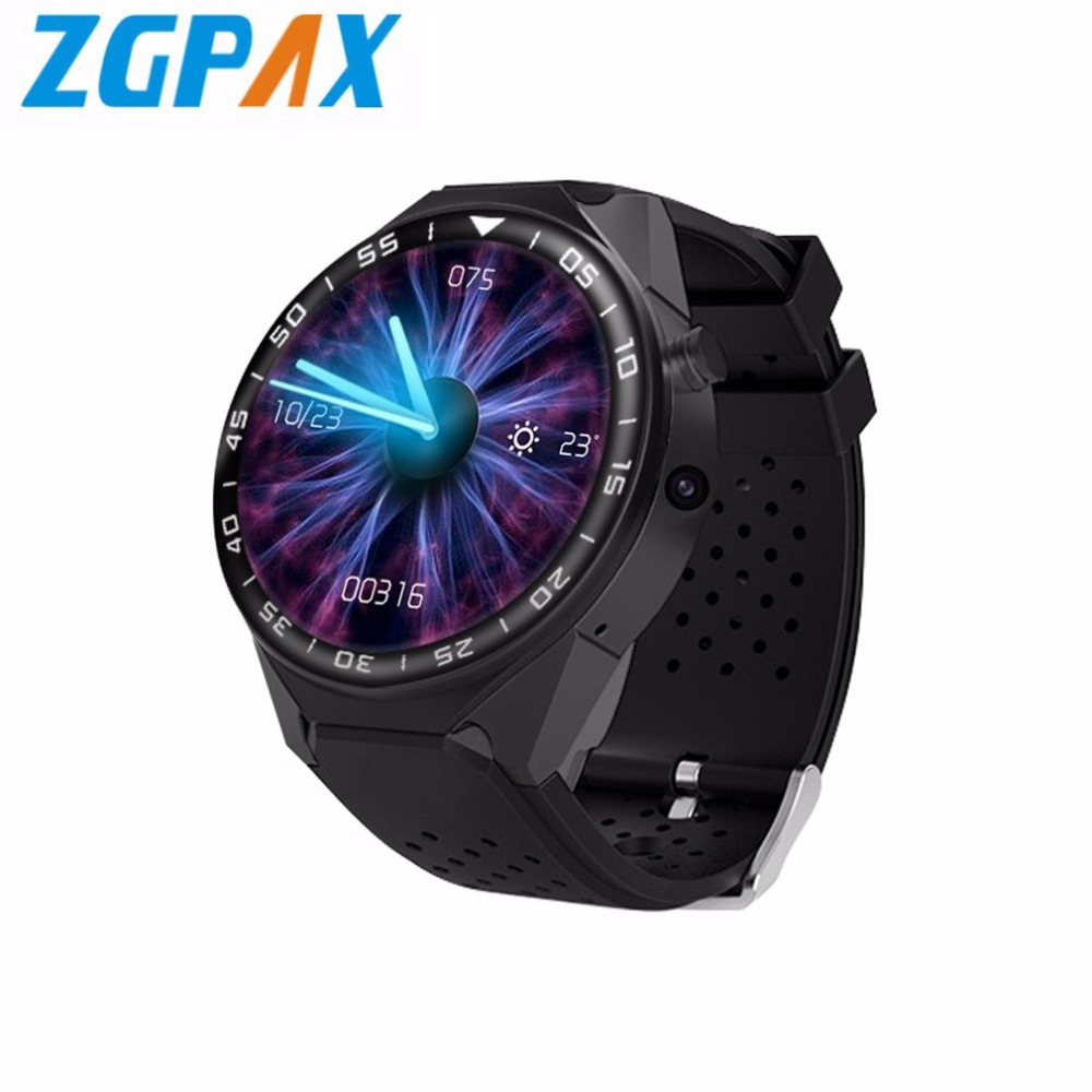 ZGPAX S99C Android V5.1 OS Smart Watch HD Touch Screen Smart Watch GPS WIFI Phone Watch With 2MP Camera Pedometer Monitor zgpax s5 watch smart phone dual core 1 54 inch capacitive touch screen android 4 0 512mb ram 4g rom 2mp camera with gps silver black