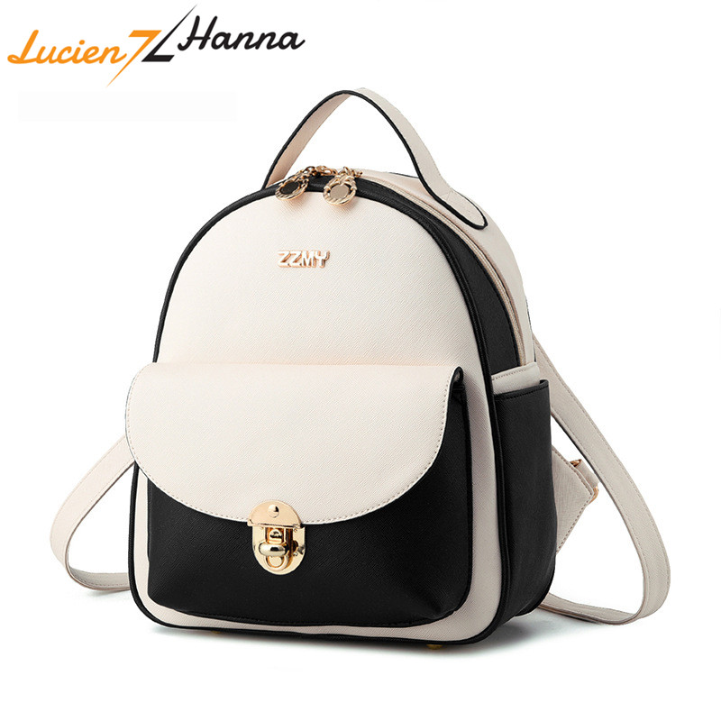 Small Woman Backpack Leather Solid Candy Color Female Mini Backpacks for Women Fashion School Shoulder Bag Girl Casual Bagpack 2017 new girl backpack mini high quality girl student casual female bags woman shoulder bag backpacks fashion female bag
