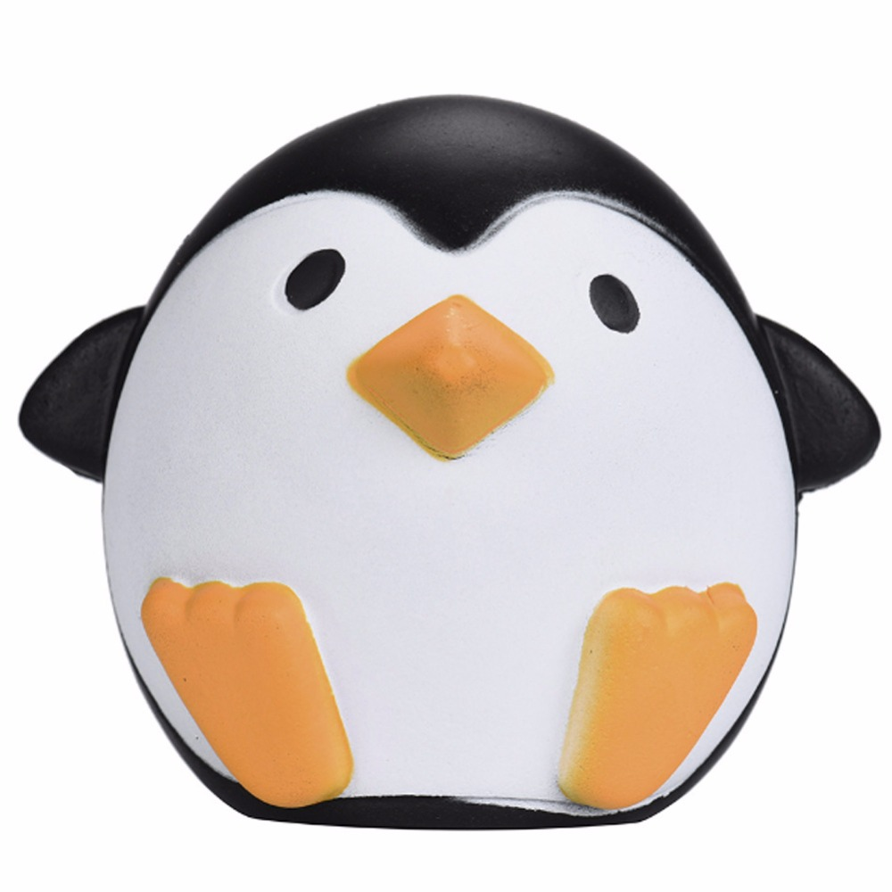 11.5CM Lovely Jumbo Soft Fat Penguin Squishy Toy Slow Rising For Children Relieves Stress Anxiety Family Decor Birthday Gift