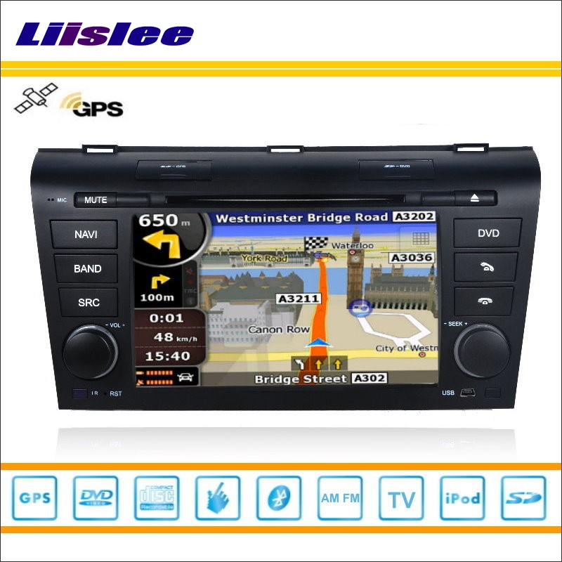 Liislee Auto Radio Stereo DVD Player GPS Navi Navigation Für <font><b>Mazda</b></font> Axela 2003 ~ 2009 iPod USB Bluetooth HD Bildschirm multimedia System image