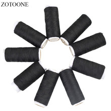 ZOTOONE 10PCS Black Spool Multicolor Sewing Thread Industrial Sewing Thread Machine Threads Sewing Accessories a spool of blue thread