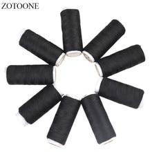 ZOTOONE 10PCS Black Spool Multicolor Sewing Thread Industrial Machine Threads Accessories